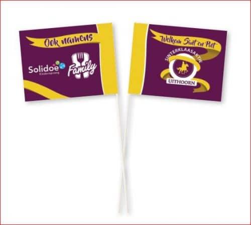 Zwaaivlaggetjes bedrukken toeslag voor verschillende voor en achterkant